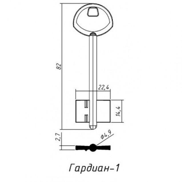 [ В44 ] Гардиан-1 82х22,4х14,4мм