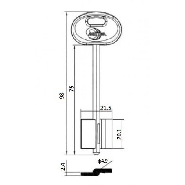 [ В45 ] MET19DP 98х21,5х20,1мм