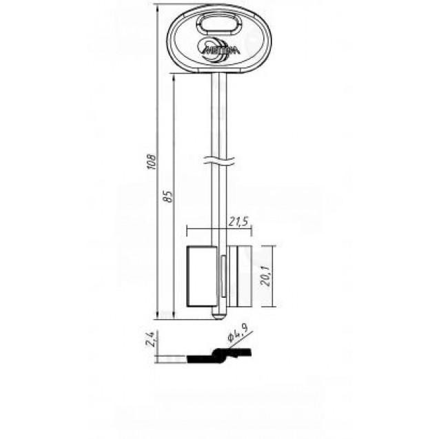 [ В46 ] MET20DP 108х21,5х20,1мм