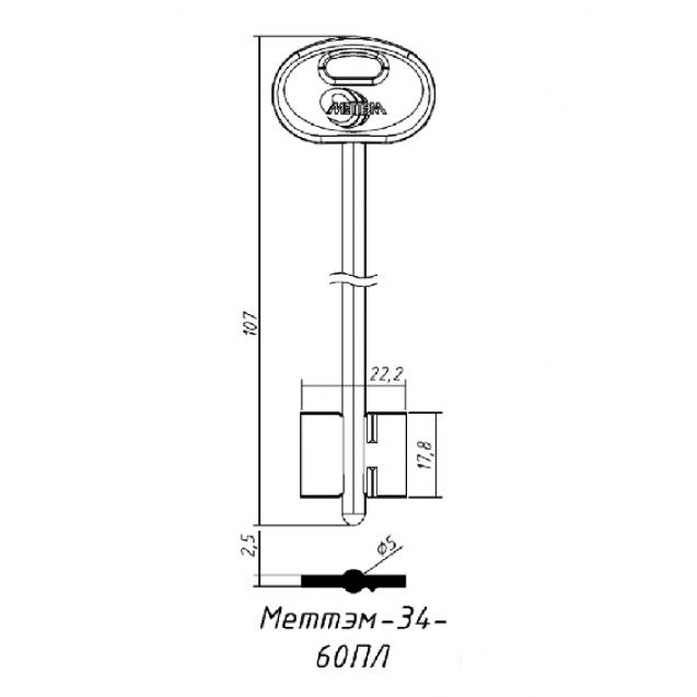 [ В48 ] MET4DP 107х22,2х17,8мм