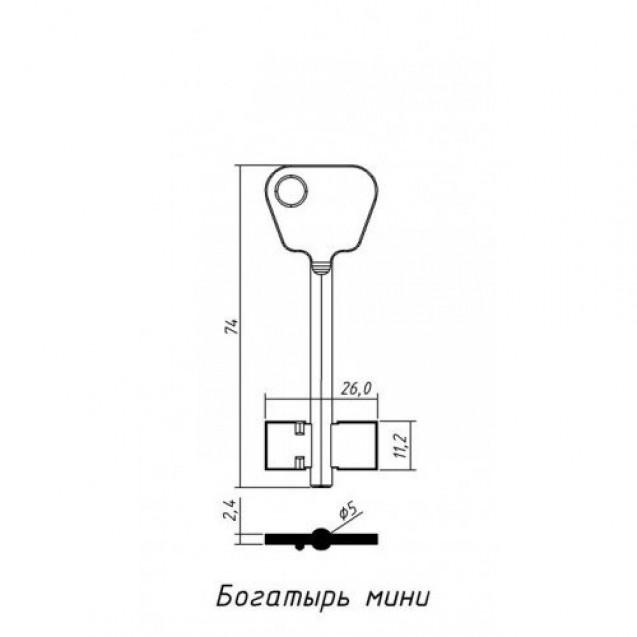 [ В50 ] Богатырь-4 74х26х11,2мм латунь